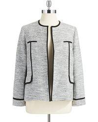 Nipon Boutique | Plus Heathered Open Front Blazer | Lyst