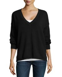 525 America V-Neck Long-Sleeve High-Low Top