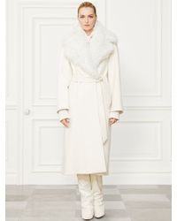 Ralph Lauren Collection Wool-cashmere Leonarda Coat - Lyst