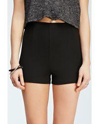 Forever 21 Textured High-Waisted Shorts - Lyst