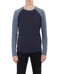 Vince Blue Baseball T-shirt - Lyst