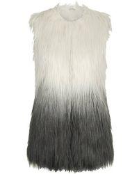 Topshop Ombre Faux Fur Gilet - Lyst