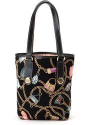 Gucci Black Printed Tote Bag - Lyst