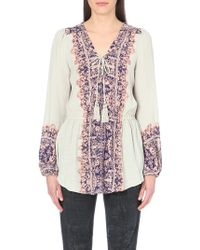 Free People Printed Gauze Tunic - For Women - Lyst