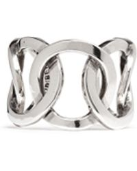 Philippe Audibert 'Columbus' Cutout Chain Link Ring silver - Lyst