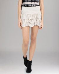Maje Skirt Tiered Mini - Lyst