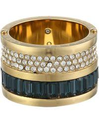 Michael Kors Brilliance Pave & Baguette Barrel Ring - Lyst