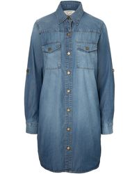 Current/Elliott Lily Shirt Dress in Denim - Lyst