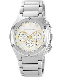Vince Camuto - Men'S Chronograph Stainless Steel Bracelet Watch 45Mm Vc-1065Svsv - Lyst