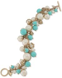 Carolee - Antiquegoldtone Colorful Cluster Charm Bracelet - Lyst