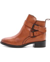 McQ by Alexander McQueen Bridle Ankle Boots - Tan - Lyst