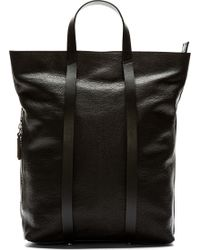 Costume National Black Leather Tote Backpack - Lyst