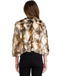 Twelfth Street Cynthia Vincent - Talitha Leather Placket Fur Chubby in Brown - Lyst