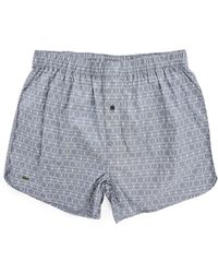 Lacoste Blue-Grey Chambray Stretch Cotton Underpants blue - Lyst