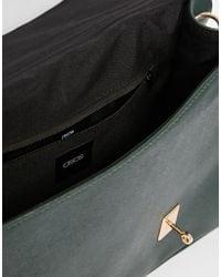 ASOS - Smart Satchel Bag With Metal Flap Detail - Lyst