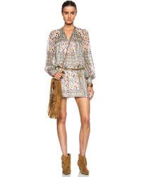 Saint Laurent Babydoll Silk Dress - Lyst