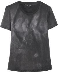Theyskens' Theory Calli Printed Cottonjersey Tshirt - Lyst