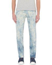 Roberto Cavalli Bleached Effect Stretch-Denim Jeans - For Men - Lyst