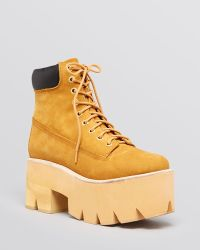 Jeffrey Campbell Lug Sole Booties - Nirvana - Lyst