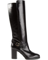 Tod's Heeled Knee Boots - Lyst