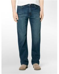 Calvin Klein Relaxed Straight Leg Indigenous Wash Jeans - Lyst