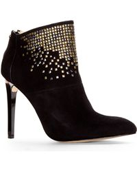 French Connection Black Monroe Studded Booties - Lyst
