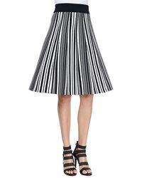 O'2nd - Hatu Striped A-Line Skirt - Lyst
