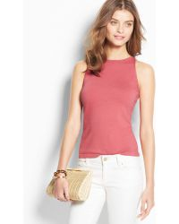 Ann Taylor Silk Cotton Halter Top - Lyst
