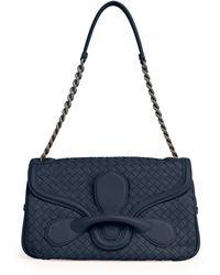 Bottega Veneta Medium Intrecciato Flap Shoulder Bag - Lyst