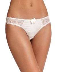 Stella McCartney Mia Loving Thong Brief white - Lyst