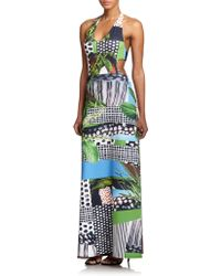 Clover Canyon Printed Bandeau-Back Maxi Dress - Lyst
