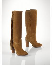 Polo Ralph Lauren Fringed Suede Tali Boot - Lyst