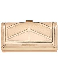 River Island Beige Chevron Panel Purse - Lyst