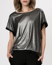 Maje Top Garenne Metallic - Lyst