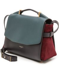 Nina Ricci Leather Shoulder Bag  Blue Canard - Lyst