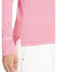 Ralph Lauren Golf - Leather-trim Cotton Mockneck - Lyst