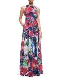 Phoebe - Sleeveless Floral-print Ball Gown - Lyst