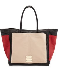 See By Chloé Nellie Large Colorblock Tote Bag Blacktangopearl - Lyst