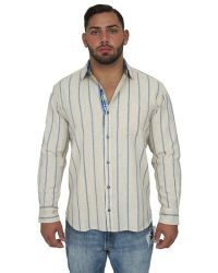 Giorgio Bellini - Madrid Linen Blend Button Front Shirt - Lyst