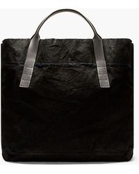DRKSHDW by Rick Owens Black Denim and Leather Oversize Tote - Lyst