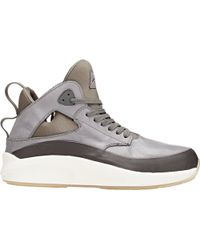 Article No. Leather & Neoprene Mid-top Sneakers - Lyst
