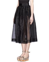Chictopia - Sheer Full Skirt - Lyst