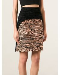 Proenza Schouler Wood Grain Effect Skirt - Lyst