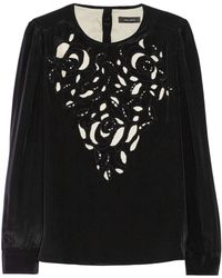 Isabel Marant Qazvin Broderie Anglaise Silk Blouse - Lyst