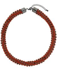 Topshop Orange Rhinestone Collar - Lyst