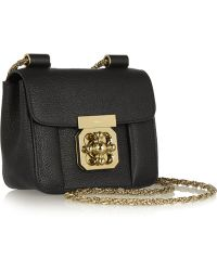 Chloé Elsie Mini Textured-leather Shoulder Bag - Lyst