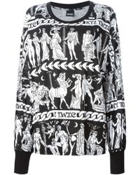 KTZ Black Printed Sweatshirt - Lyst
