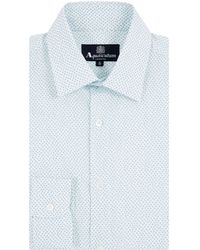 Aquascutum Darwin Print Long Sleeve Shirt - Lyst