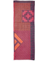 Jonathan Adler - Lattice Printed Cashmere-blend Scarf - Lyst