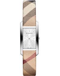 Burberry Womens Swiss Haymarket Check Fabric Strap 20mm - Lyst